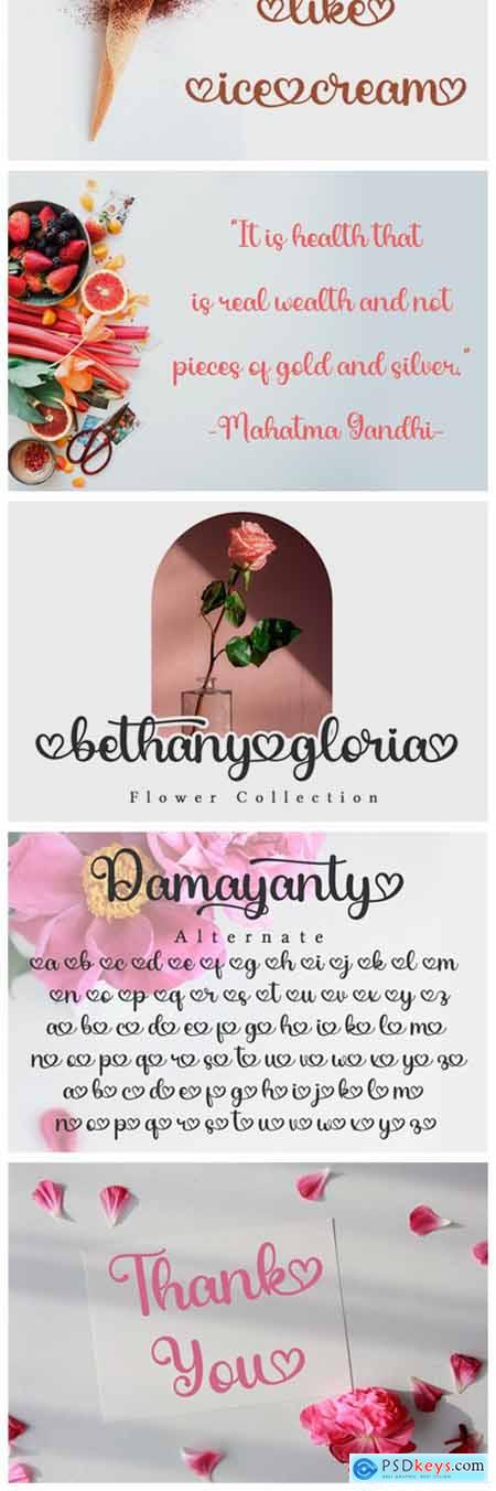 Damayanty Font