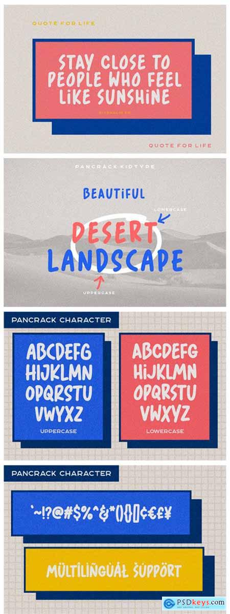 Pancrack Kidtype Font