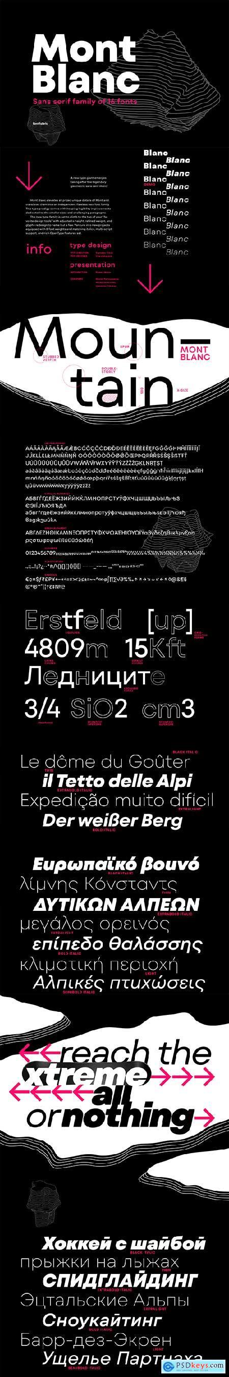 Mont Blanc Font Family