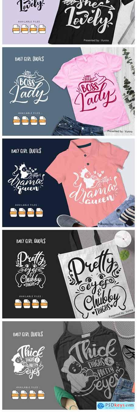 10 Baby Girl Bundle - Lettering Quotes 7717842