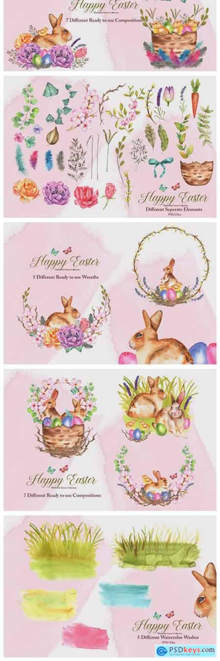 Watercolor Easter Set 7936793