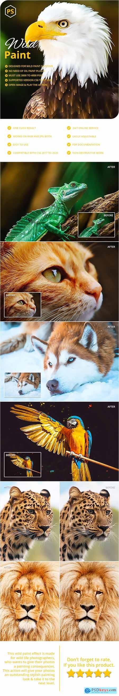 Wild Paint Photoshop Action 29744891