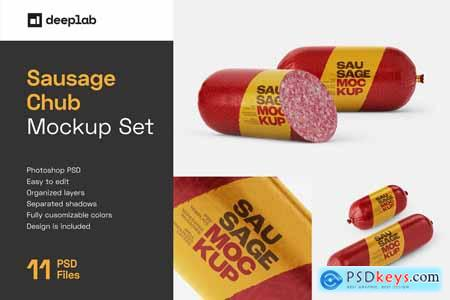 Sausage Chub Mockup Set 5808715