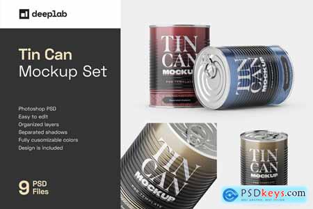 Tin Can Mockup Set - Conserve 5806695