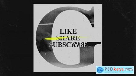 You Tube Like Share Subscribes Grunge Opener 30298574