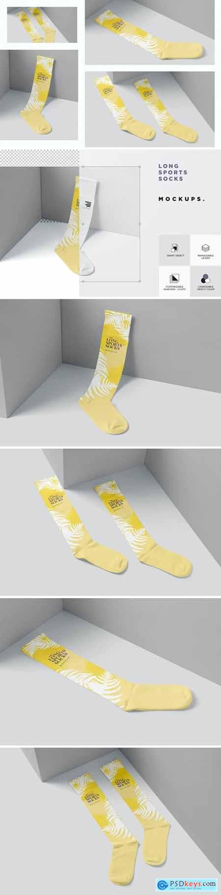 Long Socks Mockups