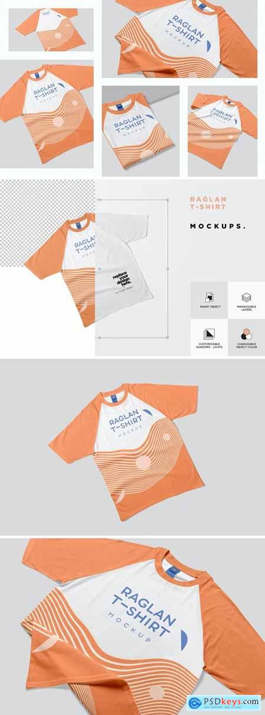 Raglan T-shirt Mockups