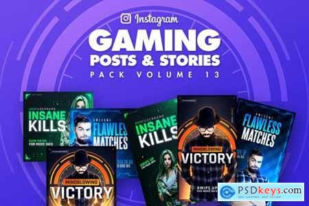 Gaming Instagram Posts and Stories Pack 13