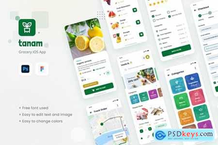 Tanam - Grocery iOS App Design Template