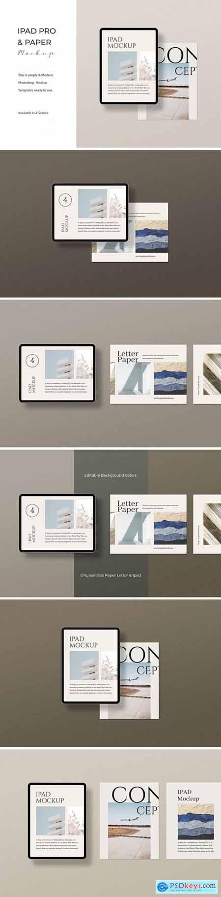 Ipad Pro & Paper Mockup