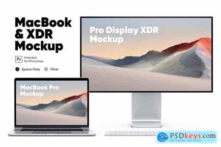 Macbook Pro & Pro Display XDR Mockups
