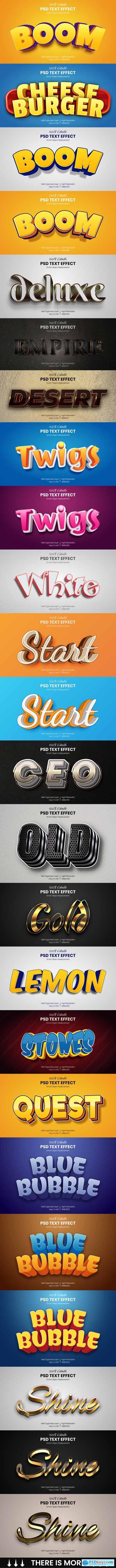 40 Luxury & Cartoon Photoshop Text Effects - Golden & Comic Styles 29800611