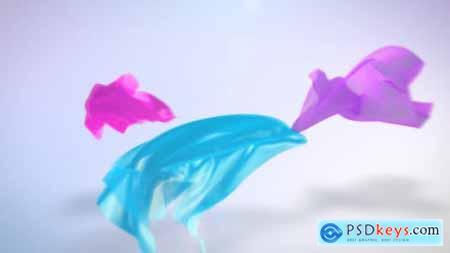 Flying Fabric Logo Reveal 9014617
