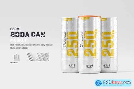 250ml Soda Can Mockup 5852797