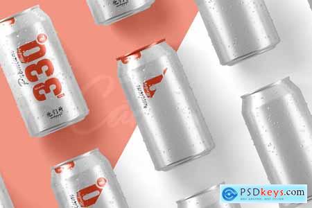 330ml Soda Can Mockup 5853494