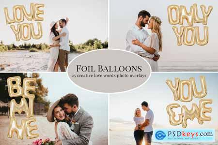 Golden Foil Balloons photo overlays 5772189