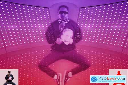 Retro Hologram Effect PS Action 5769162