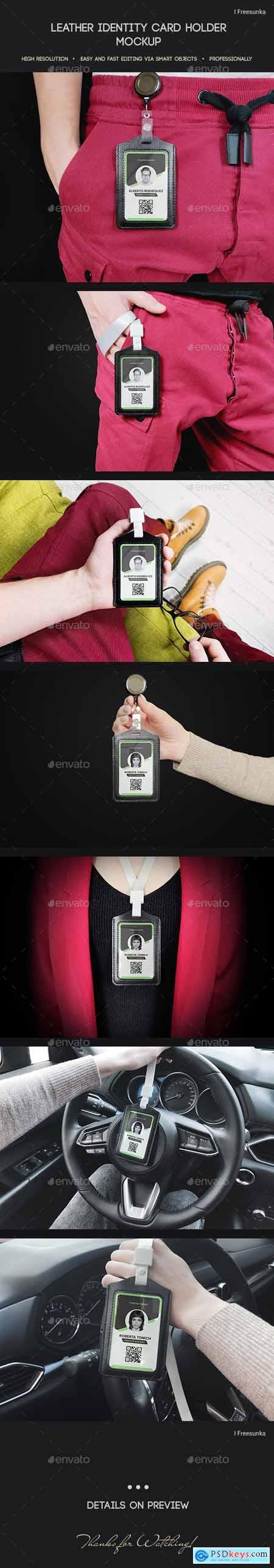 Leather Identity Card Holder Mockup 30280963