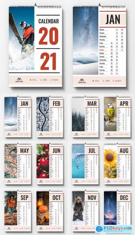 2021 Wall Calendar Layout 388583566