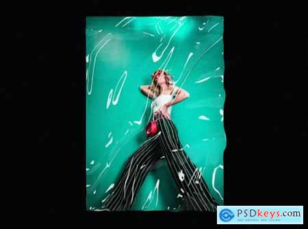 Transparent Plastic Wrap Texture Mock-Up