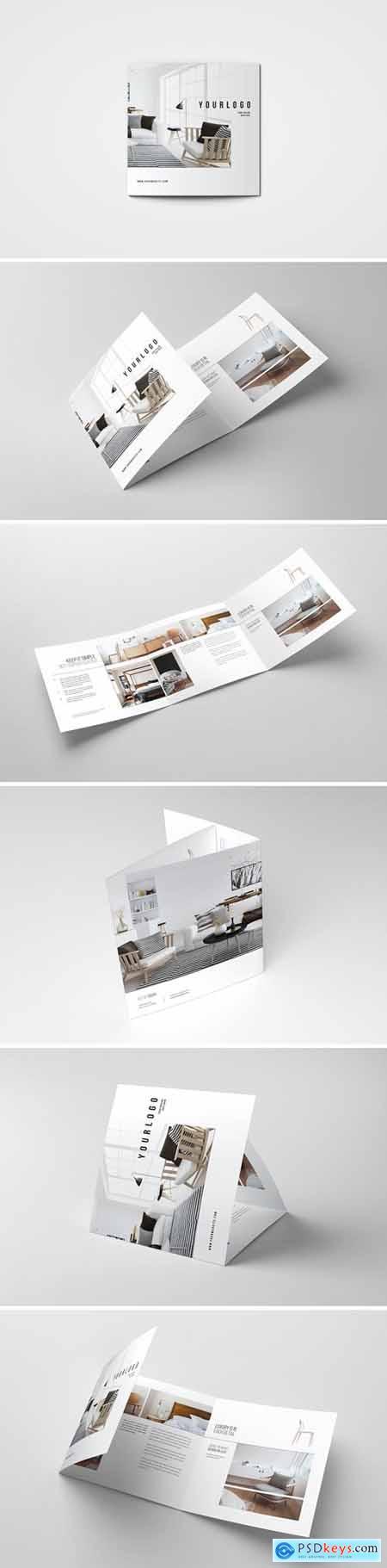 Square Minimal Interior Design Trifold