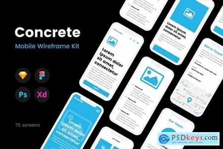 Concrete Mobile Wireframe Kit