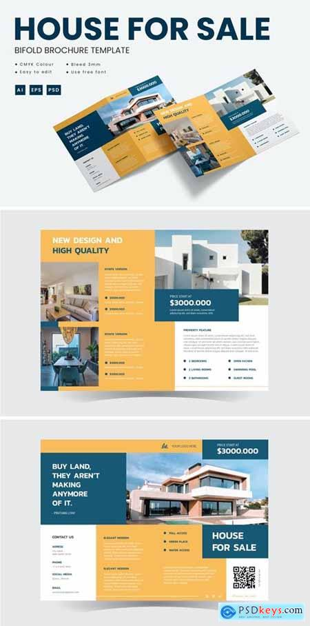 House for sale - Bifold Brochure Template