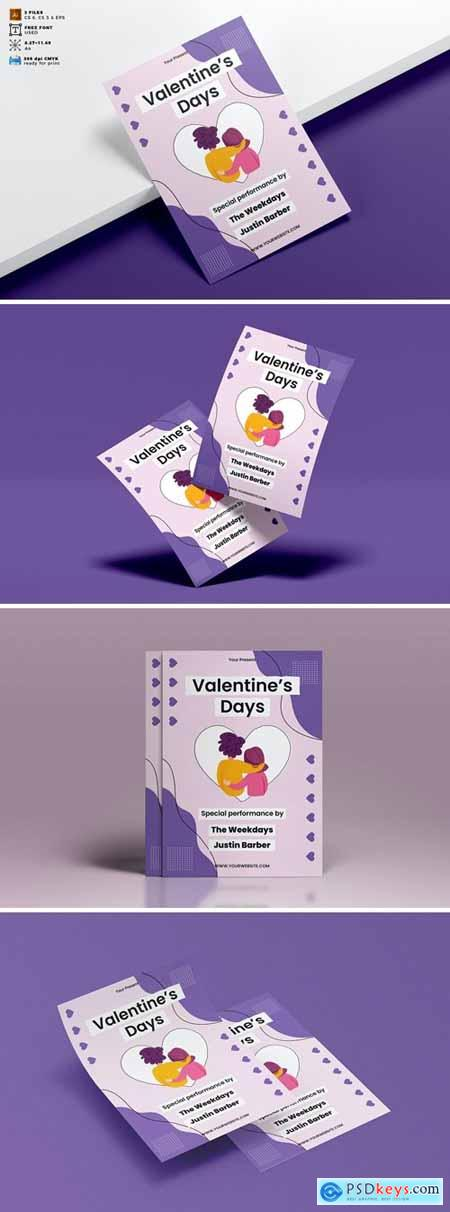Valentines Day Flyer Template Vol. 10