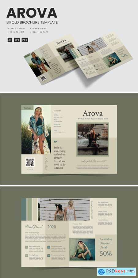 Arova - Bifold Brochure Template