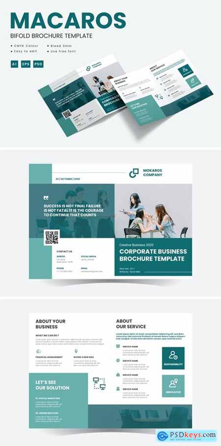 Macaros - Bifold Brochure Template