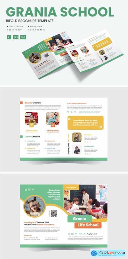 Grania School - Brochure Bifold Template