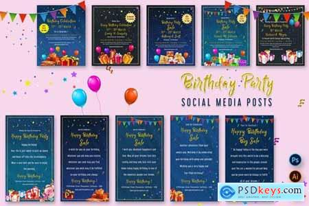Birthday Party Social Media Posts