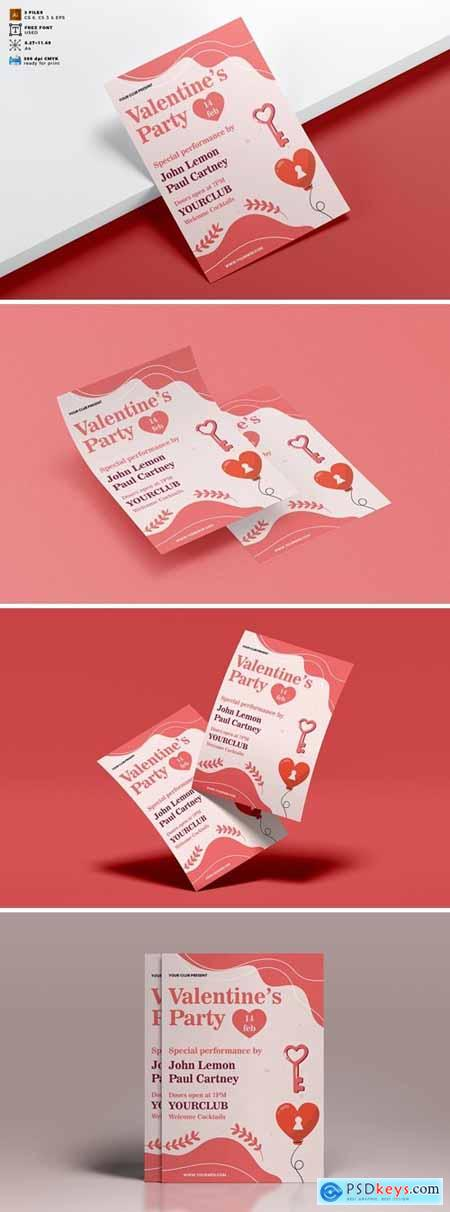 Valentines Day Flyer Template Vol. 07