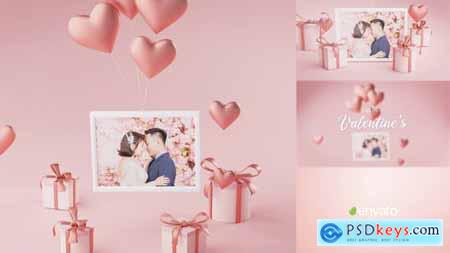 Photo Frame Valentine Logo Reveal 3D 30334582