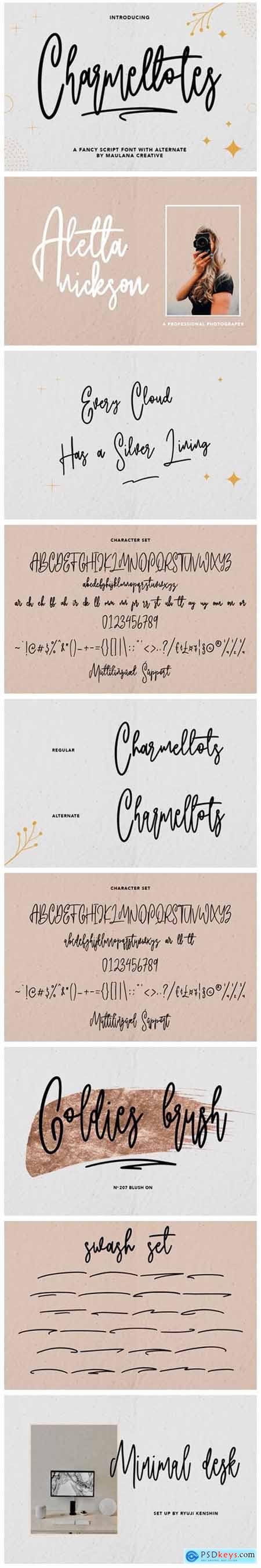 Charmellotes Font