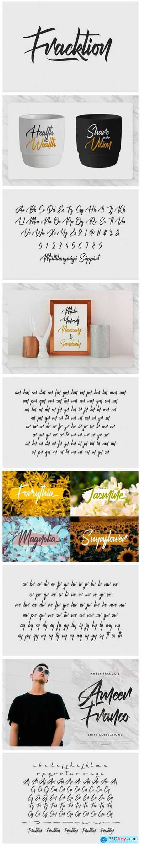 Fracktion Font