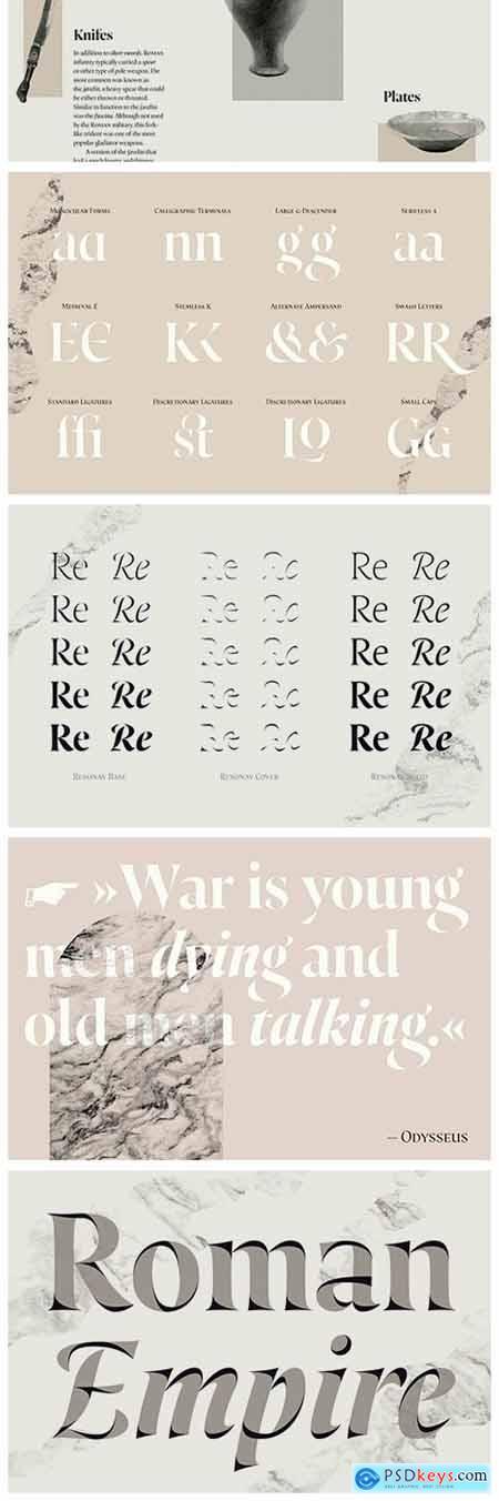 Resonay Font Family