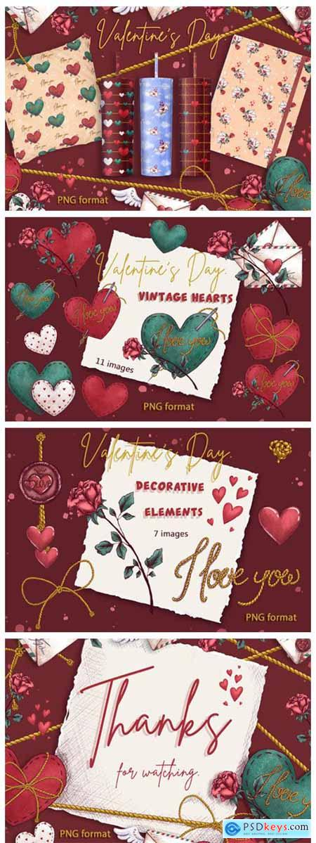 Valentines Day Gnomes Holiday Clipart 8282315
