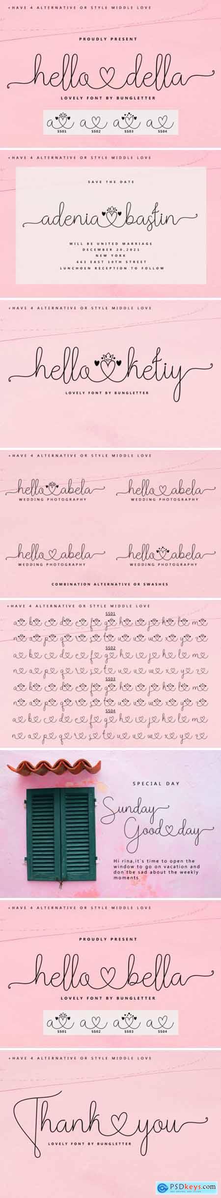Hello Della Font