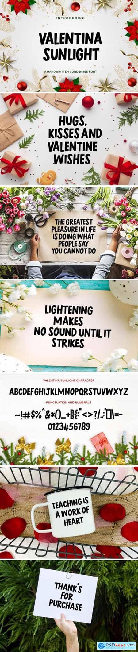 Valentina Sunlight Font
