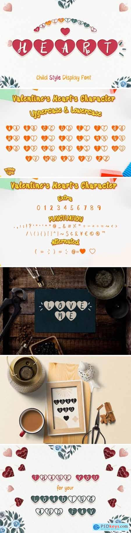 Valentines Heart Font