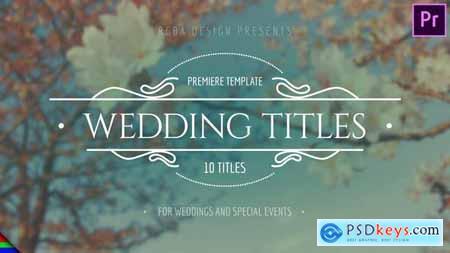 Elegant Wedding Titles Premiere Pro Mogrt 24537779