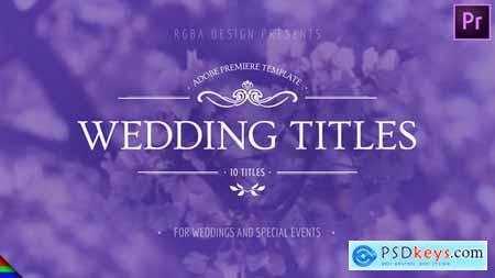 Floral Wedding Titles Premiere Pro Mogrt 24658473