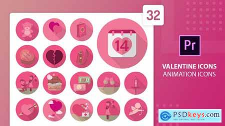 Valentine Animation Icons Premiere Pro MOGRT 30316662