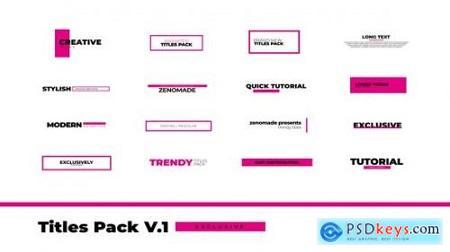 Titles Pack Premiere Pro 30290144