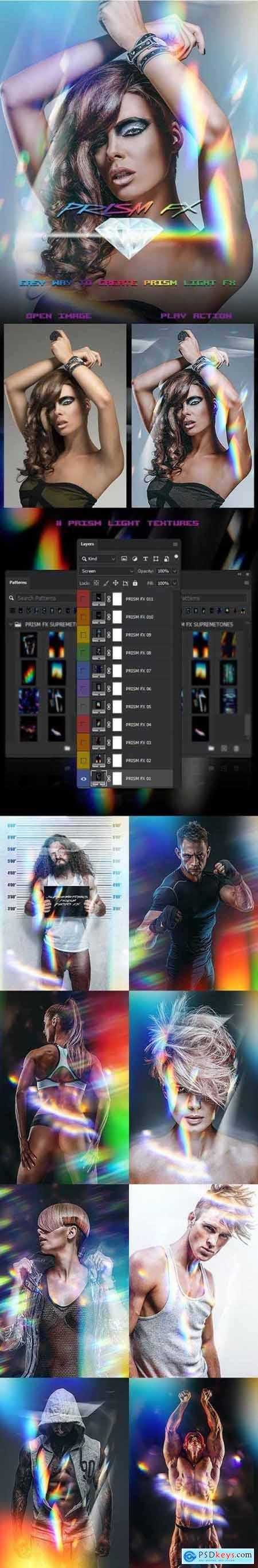 PRISM Light FX Photoshop Action 30273018