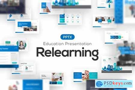 Relearning Education Powerpoint Template
