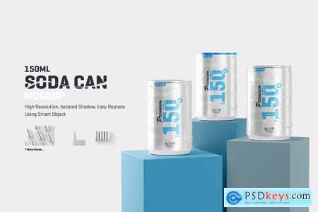 150ml Soda Can Mockup 5865684