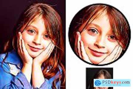 Real Oil Art Photoshop Action 5222581