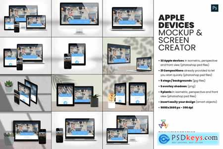 Apple Devices Mockup Screen Creator 5764541